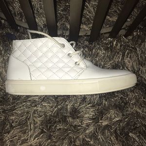 Steve Madden Jaedon White Leather Fashion Sneakers